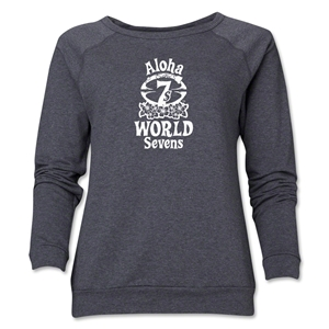 Aloha World Sevens Women's Crewneck Fleece Sweatshirt (Dark Grey)