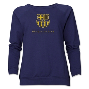 Barcelona Mes Que Un Club Women's Crewneck Fleece (Navy)
