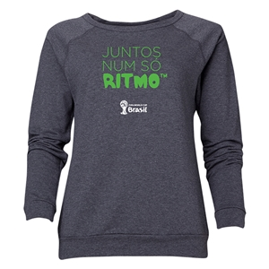 2014 FIFA World Cup Brazil(TM) Women's All in One Rhythm Portuguese Crewneck Sweatshirt (Dark Grey)