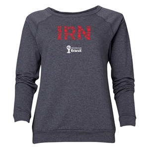 Iran 2014 FIFA World Cup Brazil(TM) Women's Elements Crewneck Sweatshirt (Dark Grey)