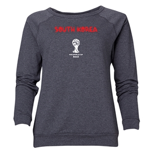 South Korea 2014 FIFA World Cup Brazil(TM) Women's Core Crewneck Sweatshirt (Dark Grey)