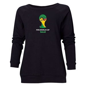 2014 FIFA World Cup Brazil(TM) Women's Official Emblem Crewneck Sweatshirt (Black)