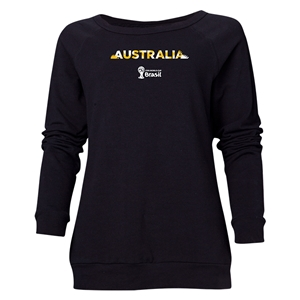 Australia 2014 FIFA World Cup Brazil(TM) Women's Palm Crewneck Sweatshirt (Black)