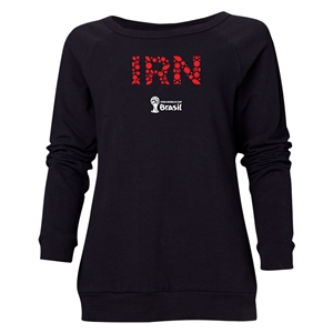 Iran 2014 FIFA World Cup Brazil(TM) Women's Elements Crewneck Sweatshirt (Black)