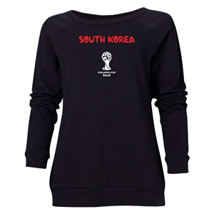 South Korea 2014 FIFA World Cup Brazil(TM) Women's Core Crewneck Sweatshirt (Black)