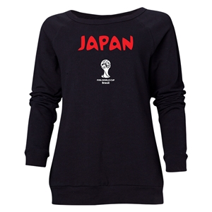 Japan 2014 FIFA World Cup Brazil(TM) Women's Core Crewneck Sweatshirt (Black)