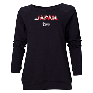 Japan 2014 FIFA World Cup Brazil(TM) Women's Palm Crewneck Sweatshirt (Black)