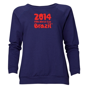 2014 FIFA World Cup Brazil(TM) Women's Official Logotype Crewneck Sweatshirt (Navy)