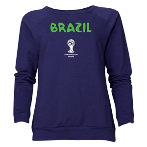 Brazil 2014 FIFA World Cup Brazil(TM) Women's Core Crewneck Sweatshirt (Navy)
