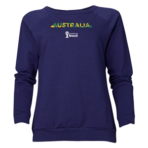 Australia 2014 FIFA World Cup Brazil(TM) Women's Palm Crewneck Sweatshirt (Navy)