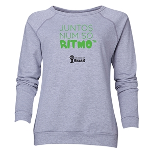 2014 FIFA World Cup Brazil(TM) Women's All in One Rhythm Portuguese Crewneck Sweatshirt (Grey)