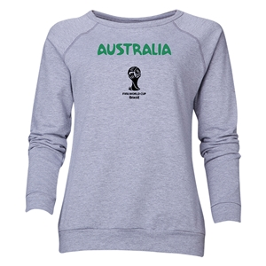 Australia 2014 FIFA World Cup Brazil(TM) Women's Core Crewneck Sweatshirt (Grey)