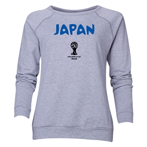Japan 2014 FIFA World Cup Brazil(TM) Women's Core Crewneck Sweatshirt (Grey)