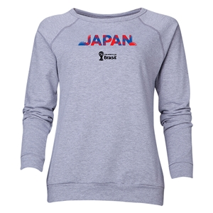Japan 2014 FIFA World Cup Brazil(TM) Women's Palm Crewneck Sweatshirt (Grey)