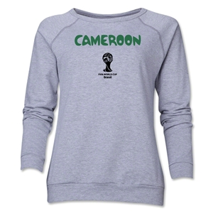 Cameroon 2014 FIFA World Cup Brazil(TM) Core Women's Crewneck (Grey)