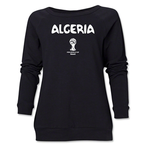 Algeria 2014 FIFA World Cup Brazil(TM) Core Women's Crewneck (Black)
