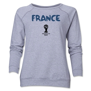 France 2014 FIFA World Cup Brazil(TM) Core Women's Crewneck (Grey)