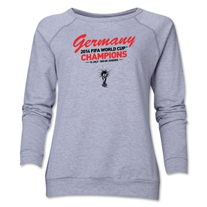 Germany 2014 FIFA World Cup Brazil(TM) Champions Women's Crewneck (Grey)