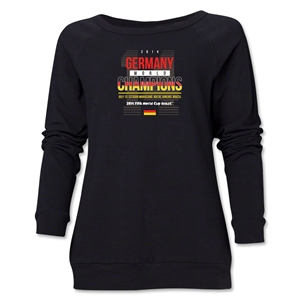 Germany 2014 FIFA World Cup Brazil(TM) Champions 14 Women's Crewneck (Black)