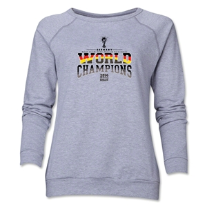 Germany 2014 FIFA World Cup Brazil(TM) World Champions Women's Crewneck (Grey)