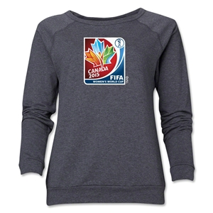 FIFA Women's World Cup Canada 2015(TM).Women's Core Crewneck Sweatshirt (Dark Grey)