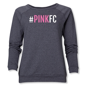 Pink FC Women's Crewneck Sweatshirt (Dark Gray)