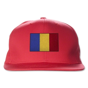 Romania Flatbill Cap (Red)