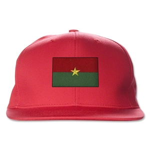 Burkina Faso Flatbill Cap (Red)