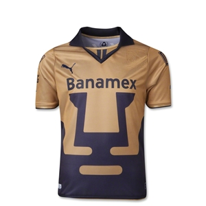 Pumas Unam 13/14 Youth Away Soccer Jersey