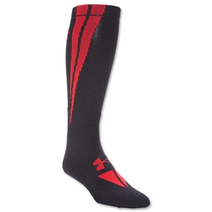 Under Armour Ignite Crew Sock (Black/Red)
