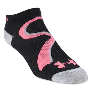 Under Armour Women's Power in Pink II Socks (Black/Pink)