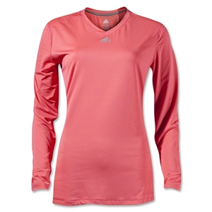 adidas Women's TechFit Long Sleeve T-Shirt (Pink/Sv)