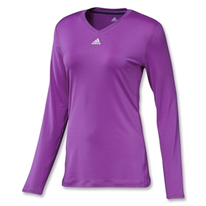 adidas Women's TechFit Long Sleeve T-Shirt (Purple)