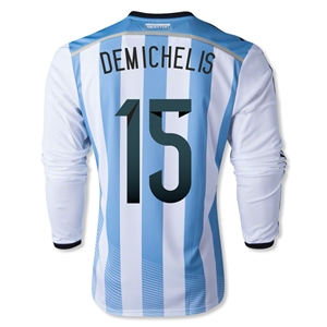 Argentina 2014 DEMICHELIS LS Home Soccer Jersey