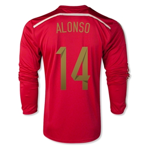 Spain 2014 ALONSO LS Home Soccer Jersey