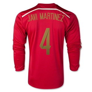 Spain 2014 JAVI MARTINEZ 4 LS Home Soccer Jersey