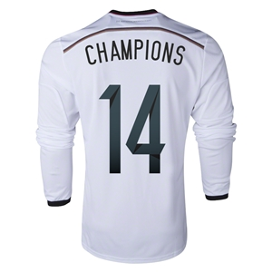 Germany 2014 CHAMPIONS LS Home Soccer Jersey
