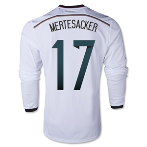 Germany 2014 MERTESACKER LS Home Soccer Jersey