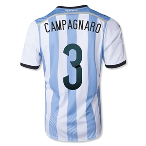 Argentina 2014 CAMPAGNARO Home Soccer Jersey