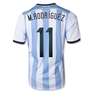 Argentina 2014 M. RODRIGUEZ Home Soccer Jersey