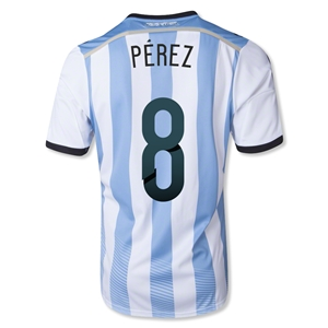 Argentina 2014 PEREZ Home Soccer Jersey
