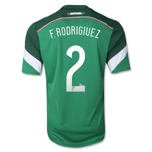 Mexico 2014 F. RODRIGUEZ Home Soccer Jersey