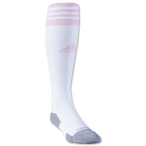 adidas Copa Zone Cushion II Sock (White/Pink)