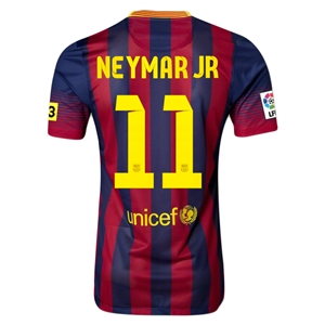 Barcelona 13/14 NEYMAR JR Authentic Home Soccer Jersey