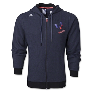 adidas Messi Full-Zip Hoody (Black)