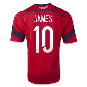 Colombia 2014 JAMES Away Soccer Jersey