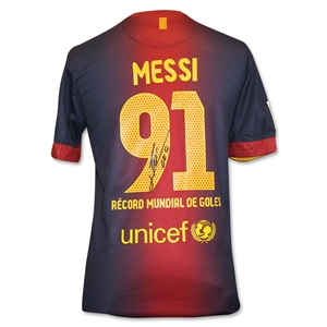 ICONS Leo Messi Record Break Breaking 91st Goal Barcelona Home Shirt