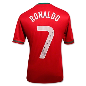 Icons Cristiano Ronaldo Signed Portugal Home Shirt