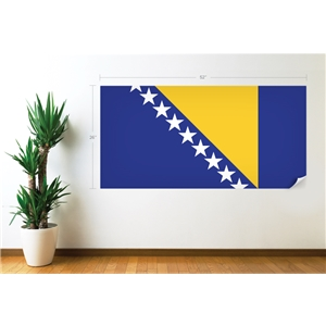 Bosnia-Herzegovina Flag Wall Decal