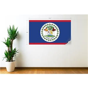 Belize Flag Wall Decal